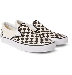 Vans Classic Checkerboard Canvas Slip-On Sneakers