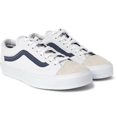 Vans - Style 36 CA Canvas and Suede Sneakers
