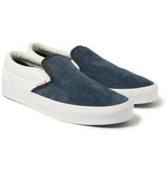 Vans Classic Leather and Suede Slip-On Sneakers