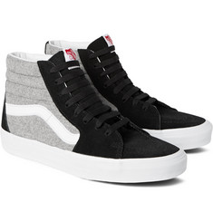Vans - SK8 Hi Suede and Flannel Sneakers