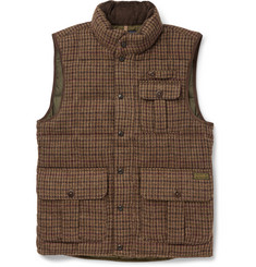 Polo Ralph Lauren Down-Filled Houndstooth Wool and Alpaca-Blend Gilet