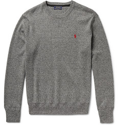 Polo Ralph Lauren Mélange Knitted Cotton Sweater