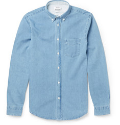 Acne Studios - Isherwood Button-Down Collar Washed-Denim Shirt