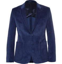 Acne Studios Blue Stan Slim-Fit Corduroy Suit Jacket