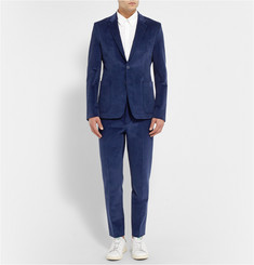 Acne Studios Blue Stan Slim-Fit Corduroy Suit Trousers