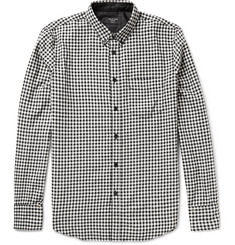 Rag & bone Button-Down Collar Gingham Cotton-Flannel Shirt