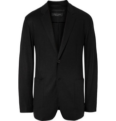 Rag & bone Black Scott Unstructured Wool Blazer