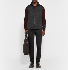 Rag & bone Stride Brushed Wool-Twill and Cotton-Blend Canvas Gilet