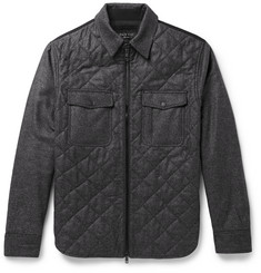 Rag & bone Grant Slim-Fit Quilted Wool-Blend Flannel Jacket