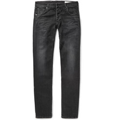 Rag & bone Slim-Fit Washed Stretch-Denim Jeans