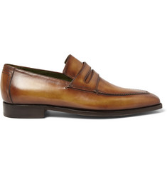 Berluti Andy Burnished-Leather Loafers