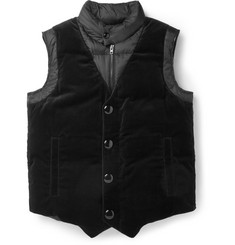 Givenchy Quilted Velvet and Shell Gilet