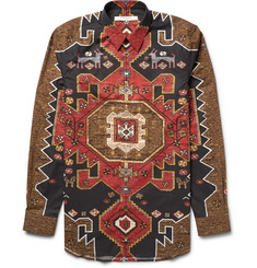 Givenchy Cuban-Fit Printed Cotton-Poplin Shirt