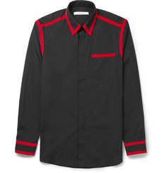Givenchy Cuban-Fit Grosgrain-Trimmed Cotton-Poplin Shirt