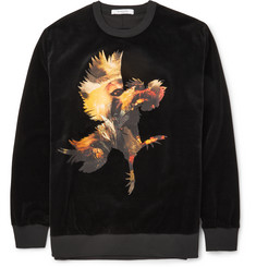 Givenchy Voodoo Columbian-Fit Cotton-Velvet Sweatshirt