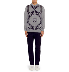 Givenchy Flocked Jacquard Wool Sweater