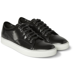 Lanvin Glossed-Leather Sneakers