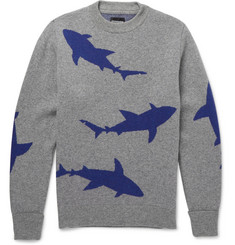 Christopher Raeburn Shark-Intarsia Wool Sweater