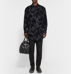 Alexander Wang Flocked Stretch-Wool Shirt