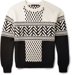 Alexander Wang Fair Isle Cable-Knit Sweater