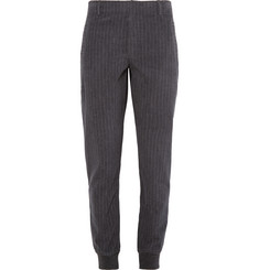 Alexander Wang Pinstriped Brushed-Cotton Trousers