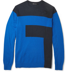 Alexander Wang Two-Tone Intarsia Sweater