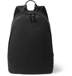 Paul Smith Shoes & Accessories Leather-Trimmed Cotton-Blend Twill Backpack