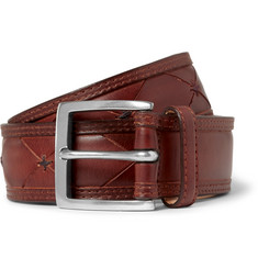 Paul Smith Shoes & Accessories 3.5cm Brown Stitched Leather Belt