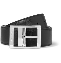 Paul Smith Shoes & Accessories 3.5cm Reversible Textured-Leather Belt