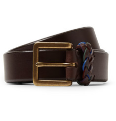 Paul Smith Shoes & Accessories 3cm Brown Leather Belt