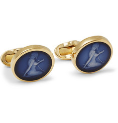 Paul Smith Shoes & Accessories Gold-Tone Enamelled Cufflinks