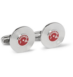 Paul Smith Shoes & Accessories Enamelled Palladium-Plated Cufflinks
