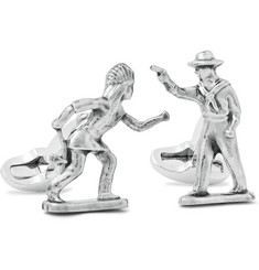 Paul Smith Shoes & Accessories Palladium-Plated Western Cufflinks