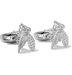 Paul Smith Shoes & Accessories Palladium-Plated Fly Cufflinks