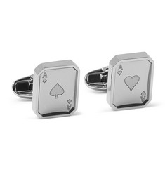 Paul Smith Shoes & Accessories Playing Card Silver-Tone Cufflinks