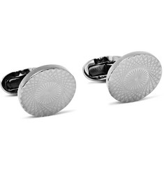 Paul Smith Shoes & Accessories Guilloché Gunmetal-Plated Cufflinks