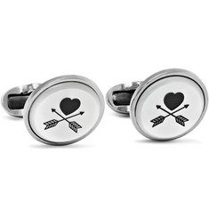 Paul Smith Shoes & Accessories Silver-Tone Mother-of-Pearl Cufflinks