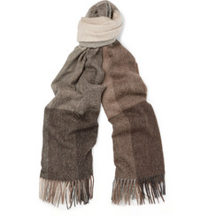 Paul Smith Shoes & Accessories Checked Wool and Cashmere-Blend Scarf