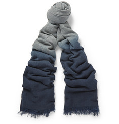 Paul Smith Shoes & Accessories Dip-Dyed Herringbone Woven Scarf
