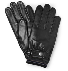 Paul Smith Shoes & Accessories Leather and Wool-Blend Gloves