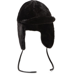 Paul Smith Shoes & Accessories Leather-Trimmed Sheepskin Hat