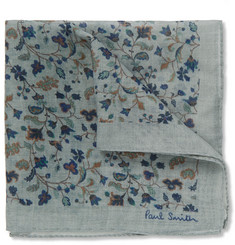 Paul Smith Shoes & Accessories Floral-Print Wool and Silk-Blend Pocket Square