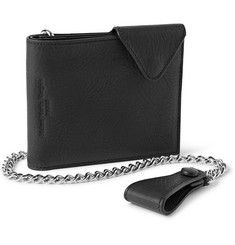 Maison Margiela Textured-Leather Chain Wallet