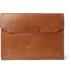 Maison Margiela Vintage-Effect Leather Portfolio