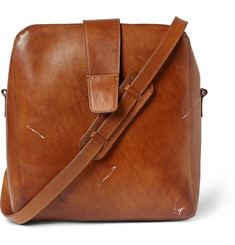 Maison Margiela Vintage-Effect Leather Messenger Bag