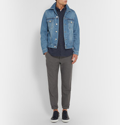 A.P.C. Button-Down Collar Checked Wool-Blend Flannel Shirt