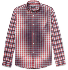 A.P.C. Button-Down Collar Checked Cotton Shirt