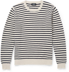 A.P.C. Fine-Knit Striped Wool Sweater