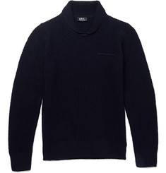 A.P.C. Slim-Fit Waffle-Knit Wool Sweater