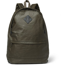 A.P.C. Leather-Trimmed Coated Cotton Backpack